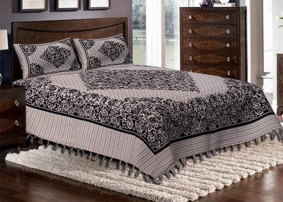 Metrocraft Cotton Abstract Double Bedsheet