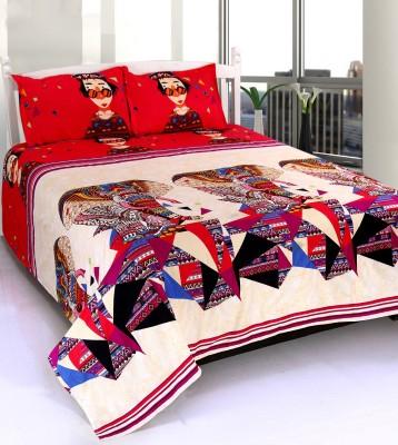 WONDER TEX INDIA Polyester Cartoon Double Bedsheet