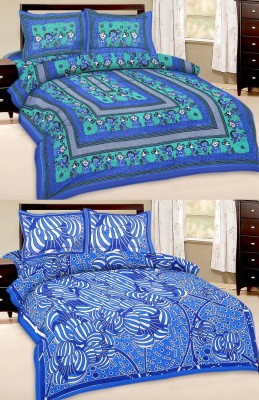 Cotton Floral Queen sized Double Bedsheet