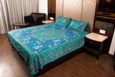 jaipuri sanganeri Cotton Printed Double Bedsheet