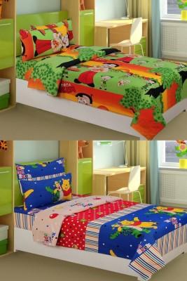 HSR Collection Cotton Floral Single Bedsheet