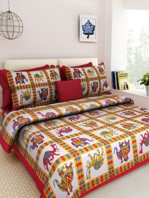 Bombay Cotton Cotton Printed King sized Double Bedsheet