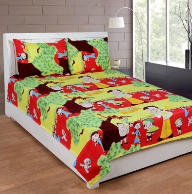 Casa Confort Cotton Cartoon Double Bedsheet