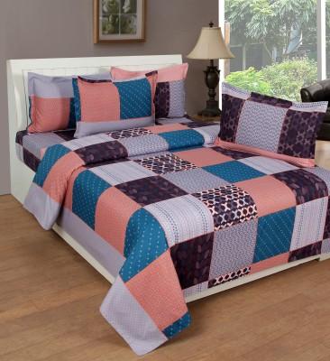 La Elite Cotton Checkered King sized Double Bedsheet