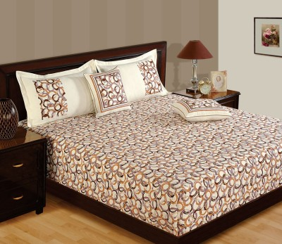 WG Fabs Cotton Floral Queen sized Double Bedsheet