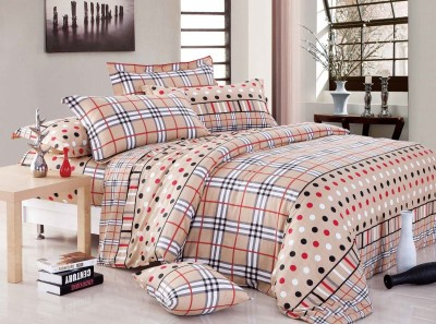 Sassoon Cotton Checkered Double Bedsheet