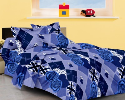 Aazeem Cotton Checkered Double Bedsheet