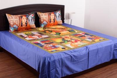 Jaipur Fabrics Cotton 3D Printed Double Bedsheet