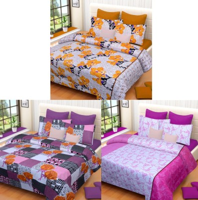 Brand Decor Cotton Abstract Double Bedsheet