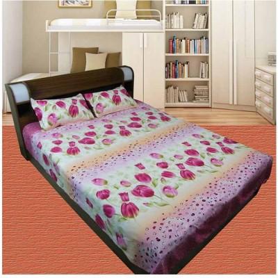 Thefancymart Polycotton Printed Double Bedsheet