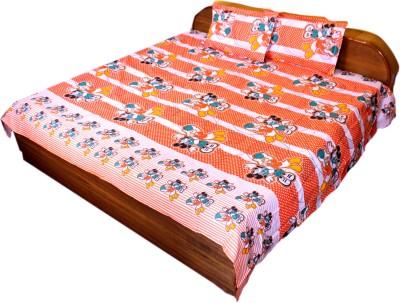 BHATIA HOME DECOR Cotton Cartoon Double Bedsheet