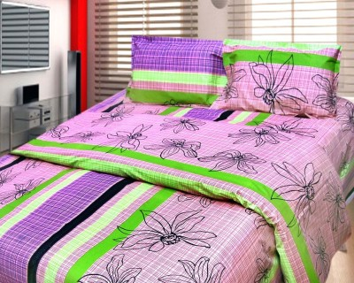 Cosmosgalaxy Cotton Floral Double Bedsheet