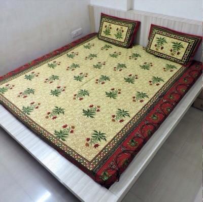 Bigshoponline Cotton Floral Double Bedsheet