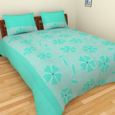 Creativezone Cotton Linen Blend Checkered Double Bedsheet