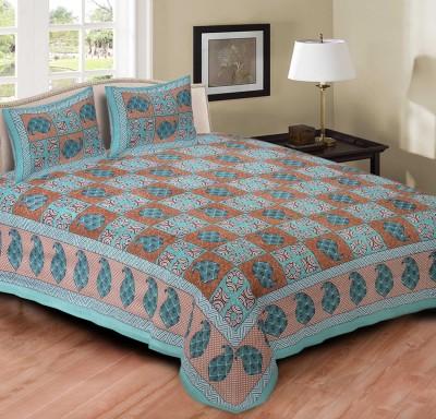 Jaipur Print Market Cotton Paisley Queen sized Double Bedsheet