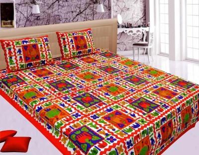 Jaipur Printex Cotton Abstract Double Bedsheet