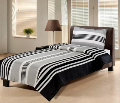Hemlines Polyester Striped Single Bedsheet