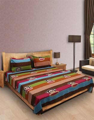 Home Stylerz Satin, Cotton Cartoon Double Bedsheet