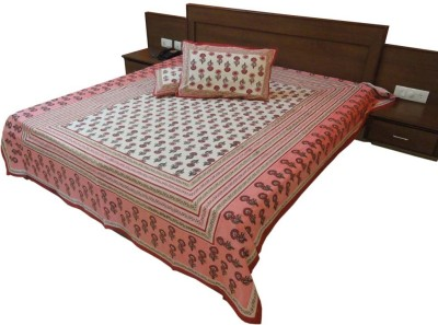 Indiangiftemporium Cotton Printed Double Bedsheet