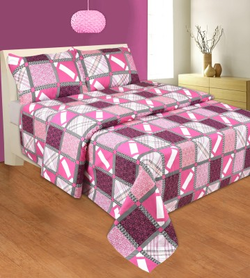 La Elite Cotton Printed Double Bedsheet