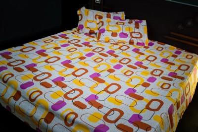 Aaram Cotton Geometric Double Bedsheet