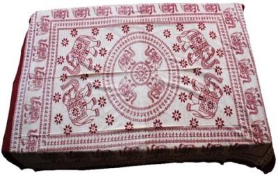 Baba Handicraft Cotton Abstract Single Bedsheet