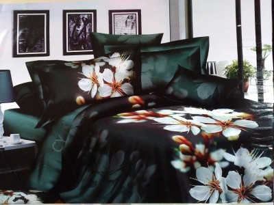 Spade Polyester Floral Double Bedsheet