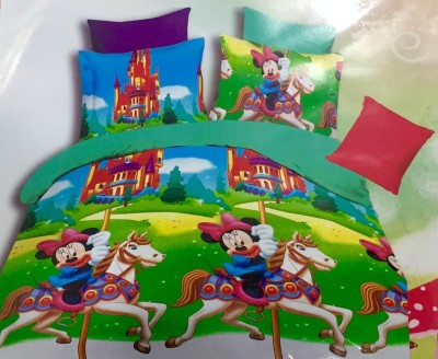 Dream Weaverz Cotton Cartoon Queen sized Double Bedsheet