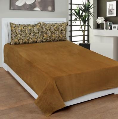 BSB Trendz Velvet Plain Double Bedsheet