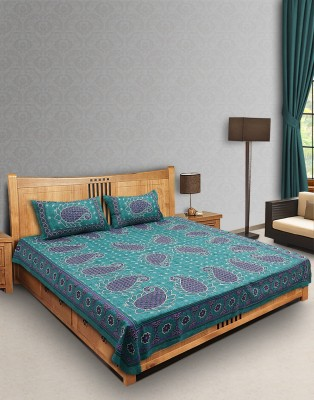 Thread Bazar Cotton Paisley Double Bedsheet