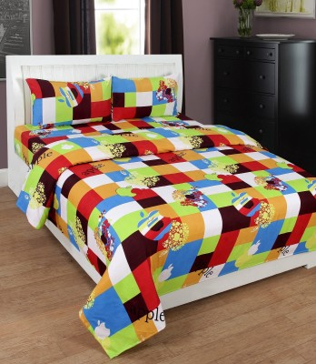 Bela Home Polycotton Checkered Double Bedsheet