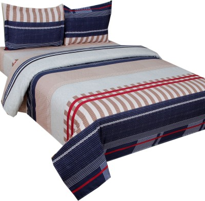 SKYTEX Cotton Abstract Double Bedsheet