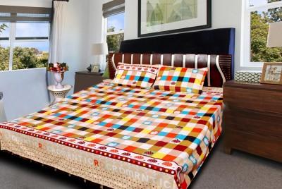 vinaayak Polycotton Checkered Double Bedsheet