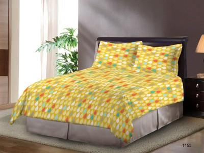 Bombay Dyeing Polycotton Polka Double Bedsheet