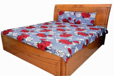 Shree Creations Cotton Floral Double Bedsheet