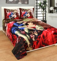 Bed & Bath Polycotton Cartoon Queen sized Double Bedsheet(1 Bed Sheet With 2 Pillow Covers, Red, Brown, Blue, Green) best price on Flipkart @ Rs. 449