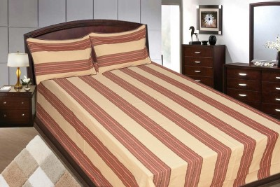 Adithya Cotton Striped Double Bedsheet