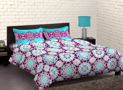 Stellar Home USA Cotton Abstract Queen sized Double Bedsheet