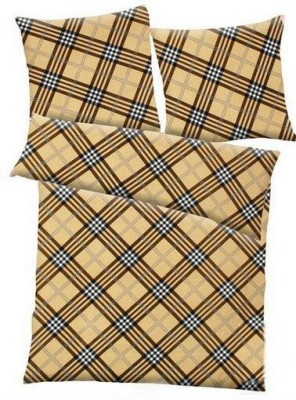 Balaji Creations Checkered Double Quilts & Comforters Brown