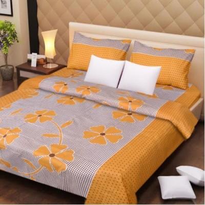 Presto Cotton Floral Double Bedsheet