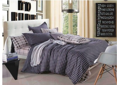 Stylla Home Cotton Checkered Double Bedsheet