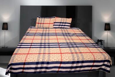 Creativehomes Polycotton Checkered Double Bedsheet
