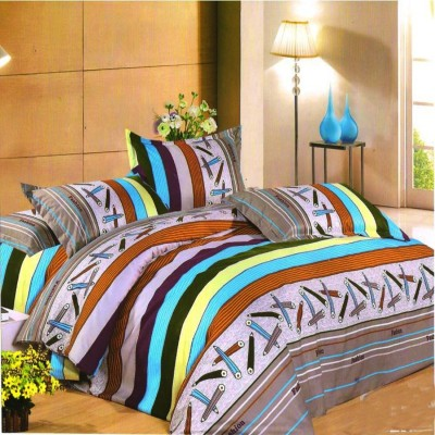 Unnati Polycotton Abstract King sized Double Bedsheet