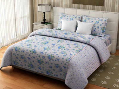 Desi Connection Cotton Floral Double Bedsheet