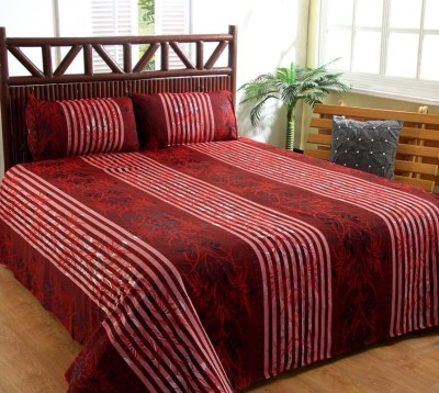 Ruhi Home Furnishing Polyester Striped Double Bedsheet