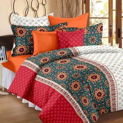 Bedspun Cotton Paisley Double Bedsheet