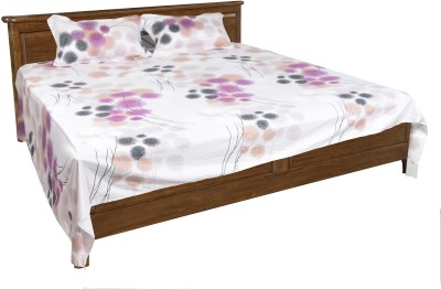 Home & Threads Cotton Floral Double Bedsheet