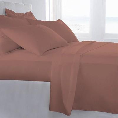 LNT Cotton Plain King sized Double Bedsheet