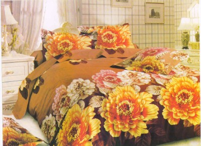 Handloom Times Polycotton Floral Queen sized Double Bedsheet
