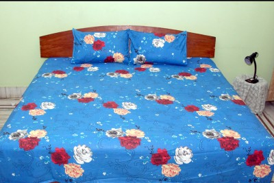 stylx Cotton Silk Blend Self Design Double Bedsheet